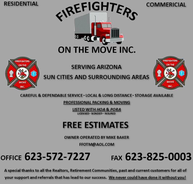 Fire Fighters on The Move, INC. - Arizona Moving Company